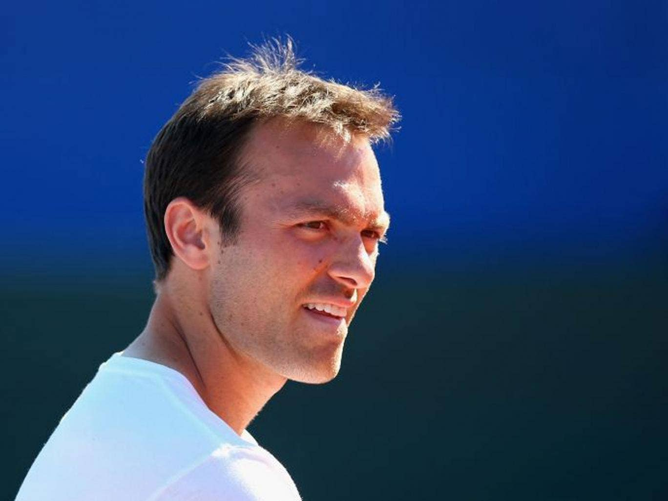 Strong return: Ross Hutchins was diagnosed with cancer a year ago