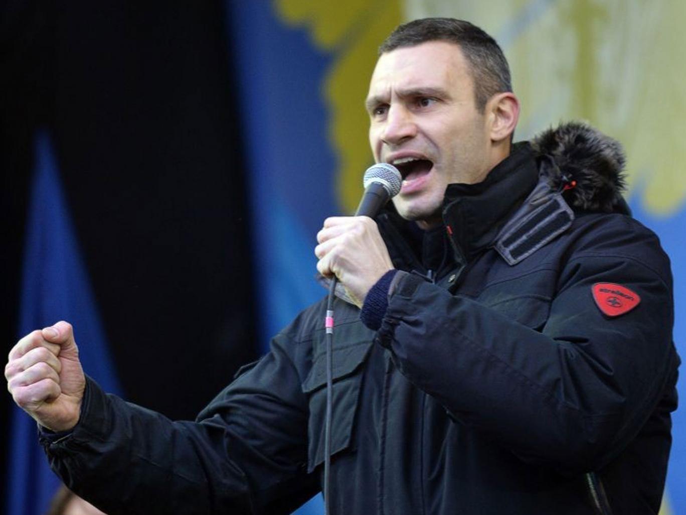 Champion's cause: Vitali Klitschko is challenging Ukraine's president