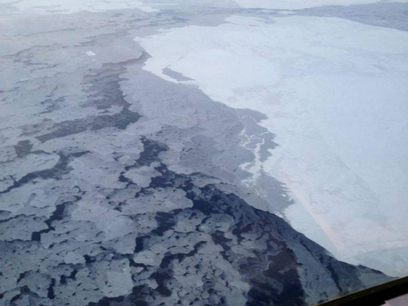 A photograph supplied bu the National Oceanic and Atmospheric Administration (NOAA) shows Arctic sea ice in 2013