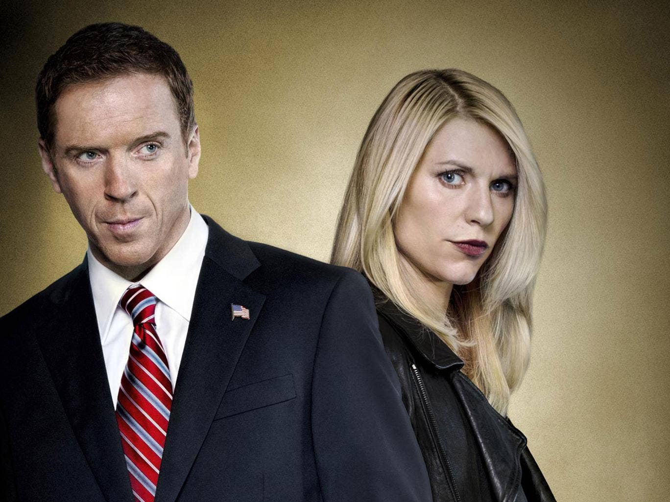 Spies like us: Claire Danes and Damian Lewis as Carrie and Brody in Homeland