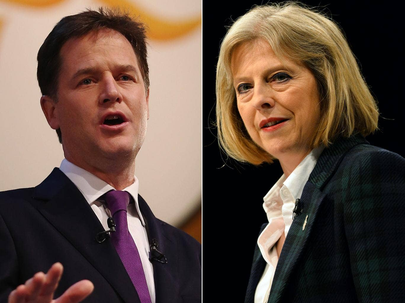 Nick Clegg has accused Theresa May of 'illegal' plans to limit EU migrants