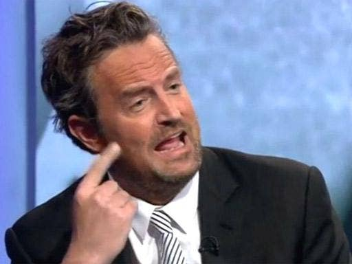 Not friends: Matthew Perry (pictured) clashed with Peter Hitchens