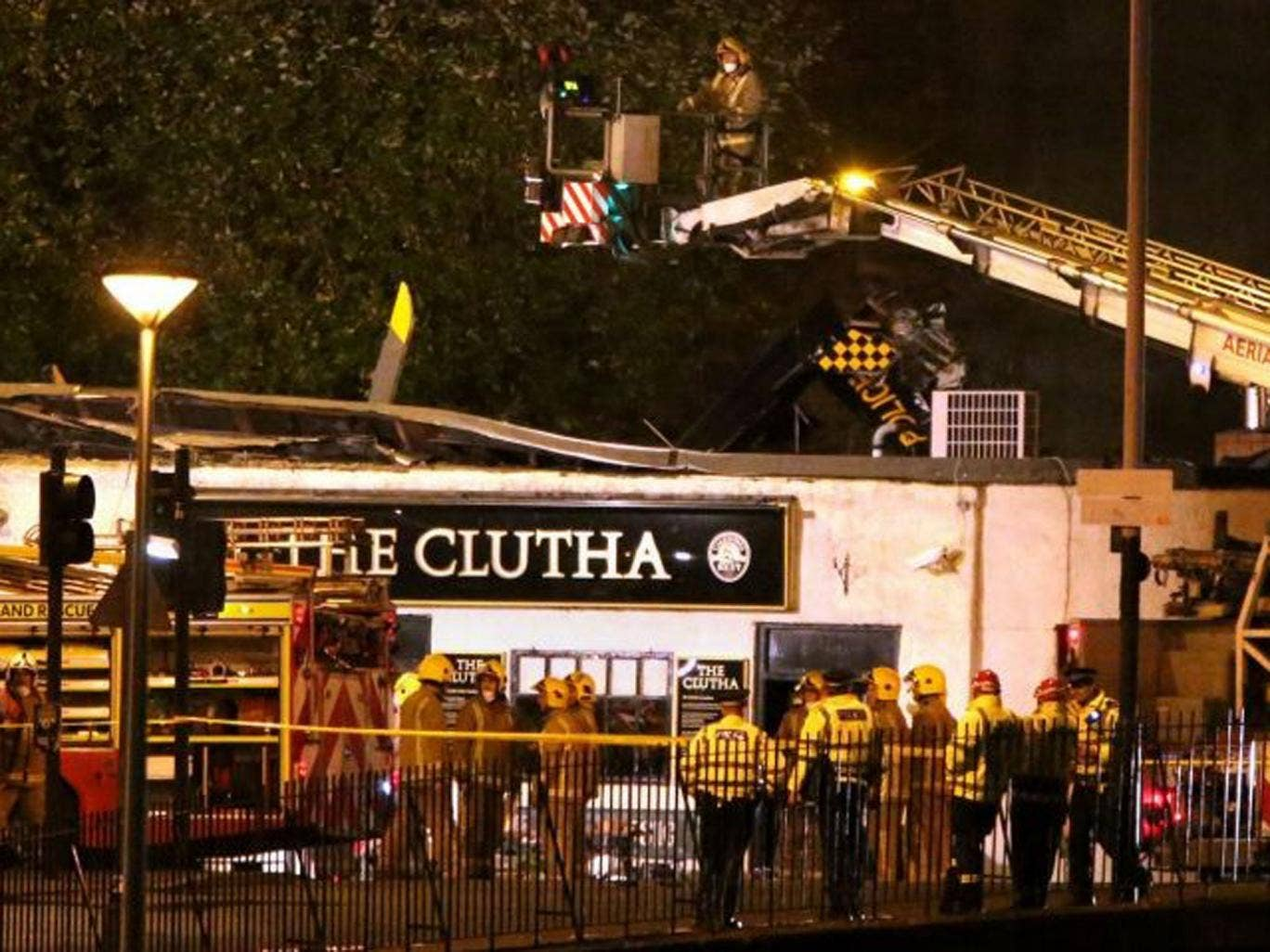 File photo, dated 30 November, at the scene of the helicopter crash at the Clutha Bar in Glasgow