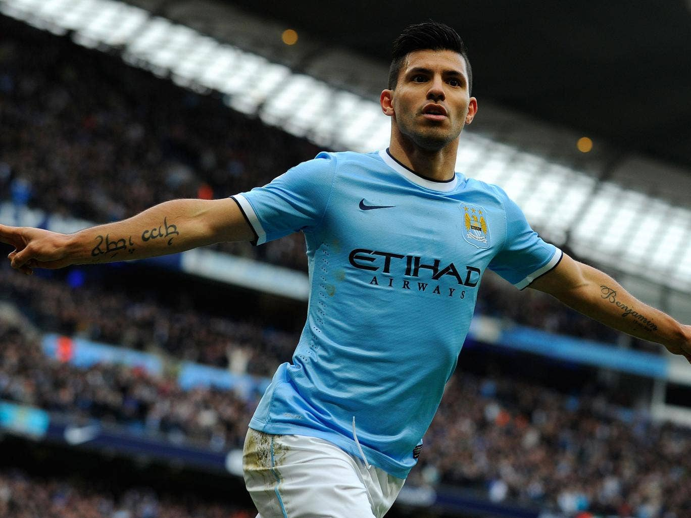 Manchester City striker Sergio Aguero could return before the end of January after his calf injury appeared not as bad as first feared