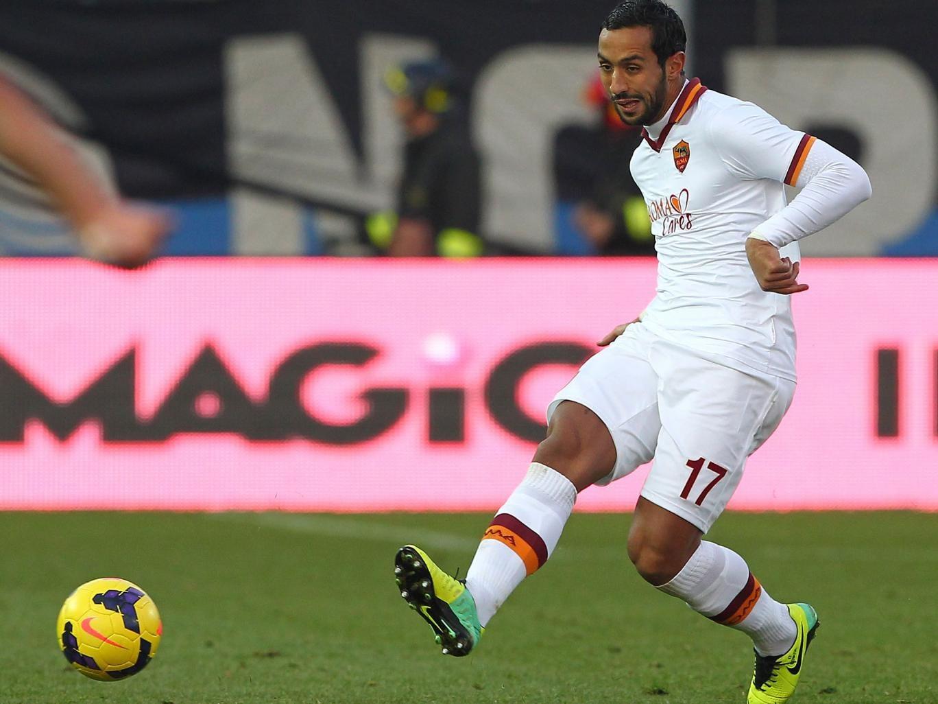 Mehdi Benatia of AS Roma in action