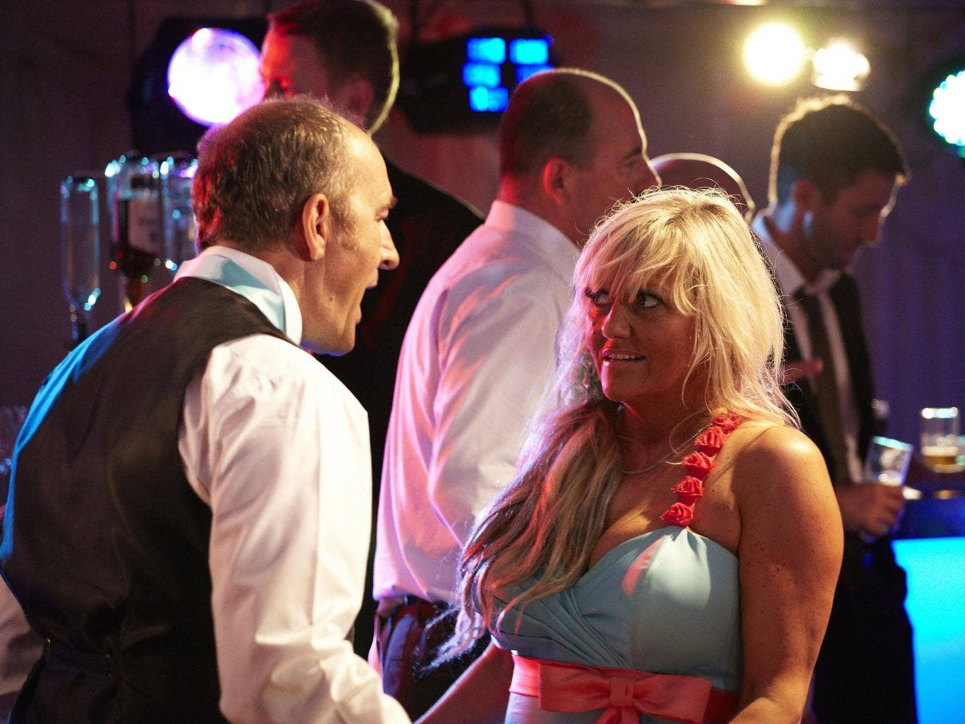 Along for the bride: Neal Barry and Camille Coduri in 'Him & Her: the Wedding'