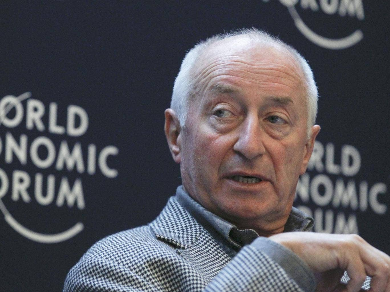Mackay in Davos in 2012; he was seen as visionary, cerebral and measured