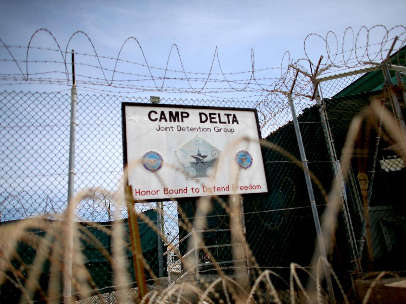 Camp Delta which is part of the U.S. military prison for 'enemy combatants' in Guantanamo Bay - Sir Peter Gibson's investigation looked into whether the Government should have done more to obtain the release of UK nationals locked up at the Guantanamo Bay