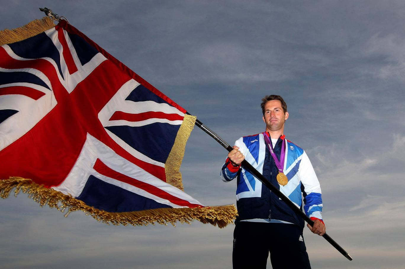 Ainslie was Team GB's flag bearer at the London 2012 closing ceremony