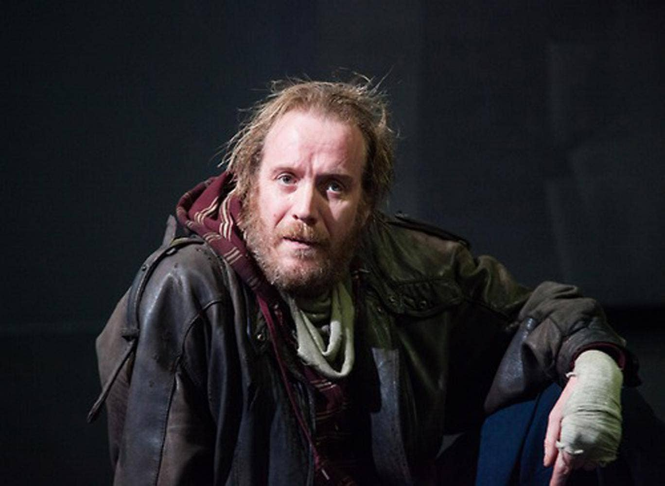 Rhys Ifans plays Danny in 'Protest Song' by Tim Price at the National's Shed theatre