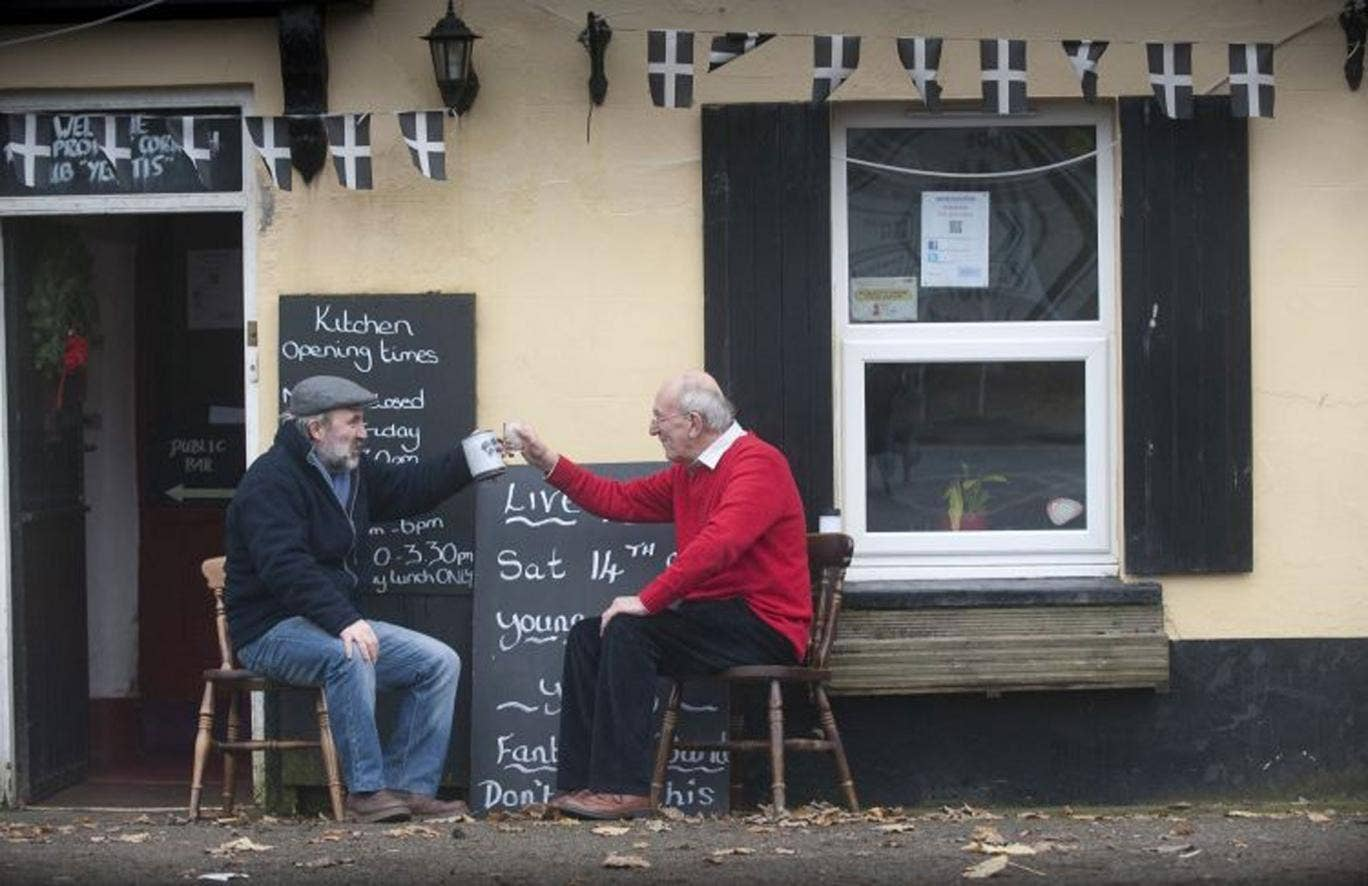 Villagers bought The Halfway House Inn, Polbathic, after it went out of business