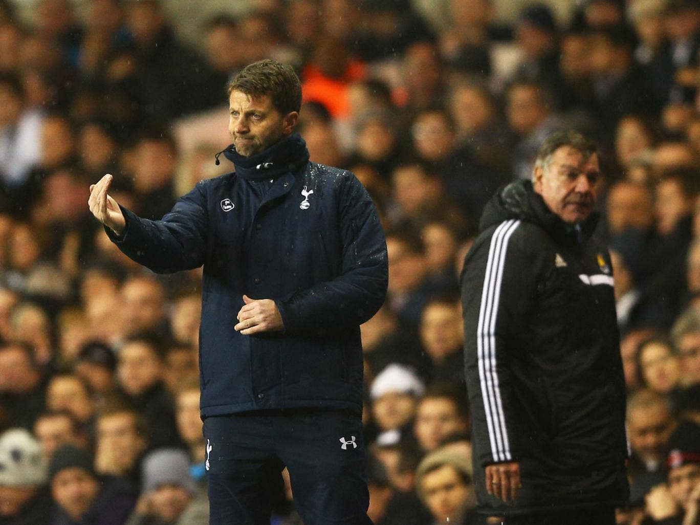 Tim Sherwood joked Spurs have too many players. 'It's 15-a-side in training,' he said