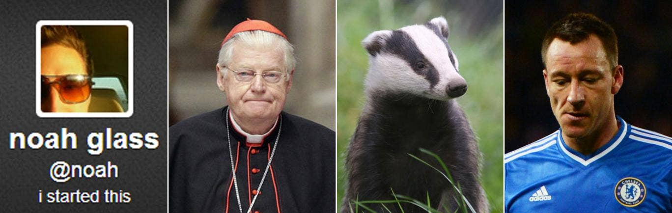 Twitter founder who made $0, the man who was nearly Pope, badgers – and John Terry