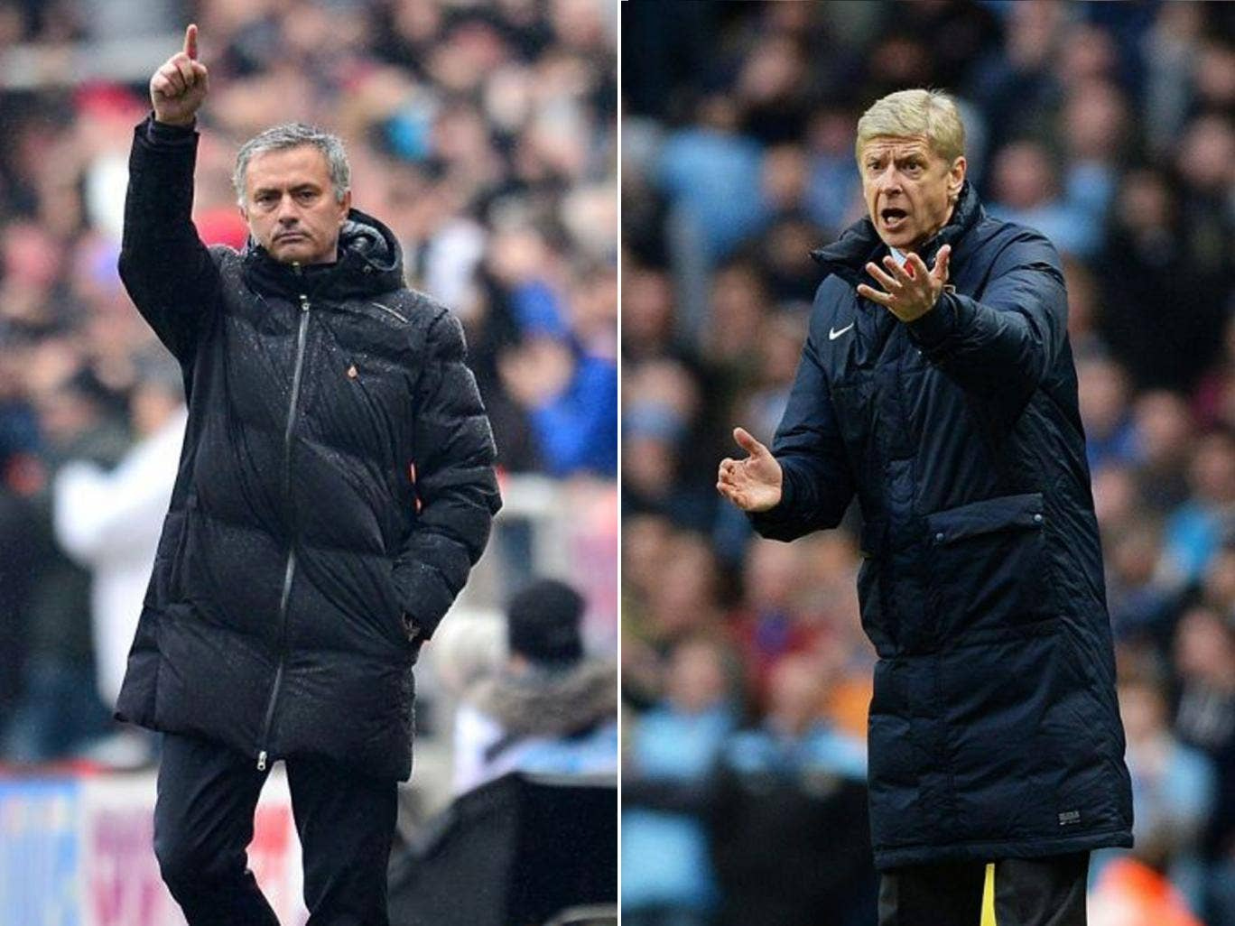 Mourinho is one of very few managers to enjoy a superior record against the Arsenal boss, having never lost to Wenger