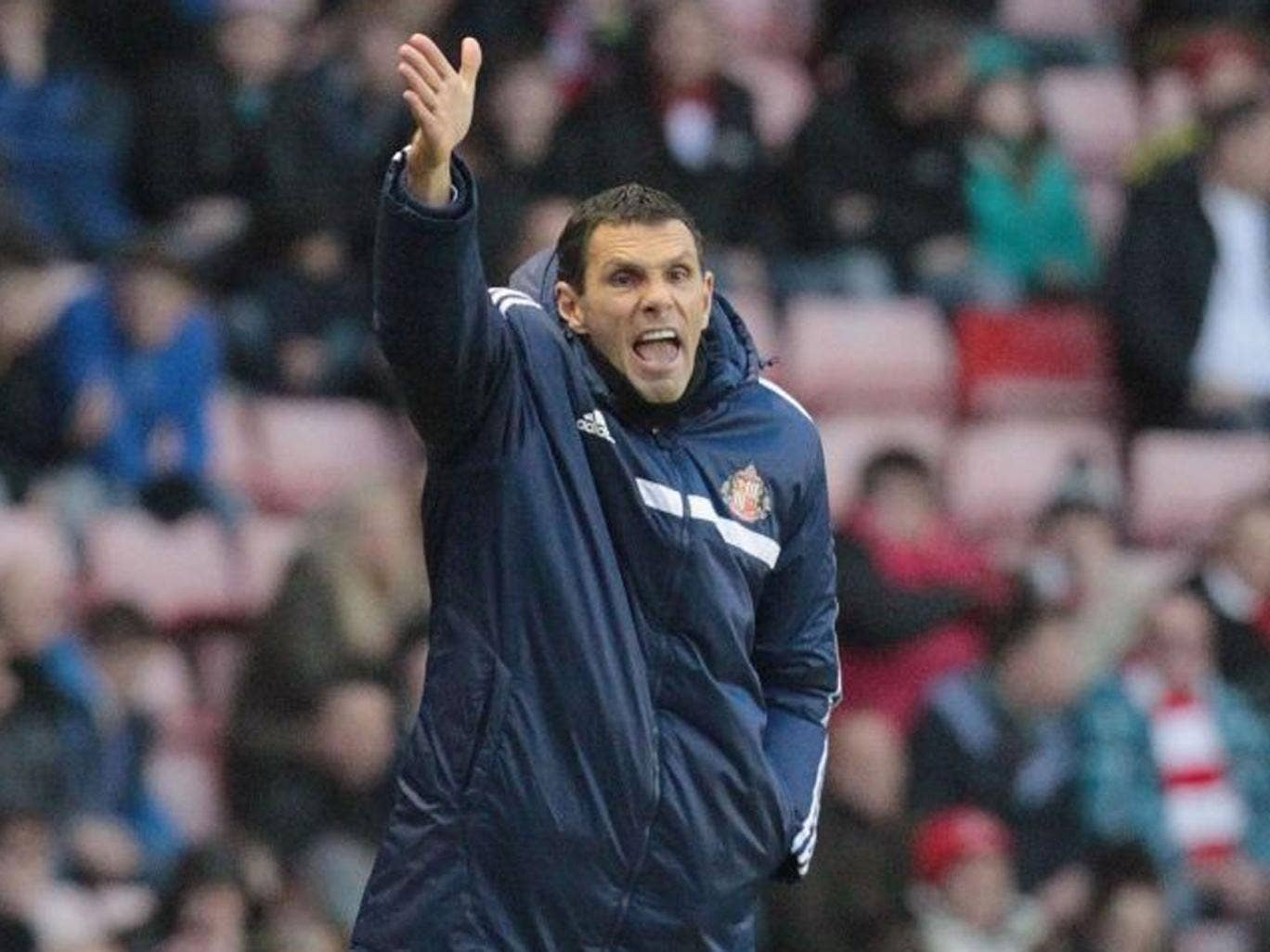 Sunderland manager Gus Poyet, pictured here at an earlier match, refused to comment on the decision