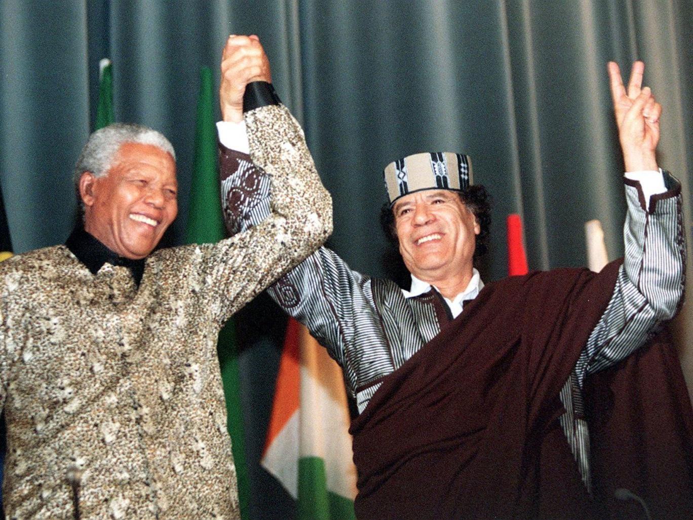 Nelson Mandela forged a close relationship with Libya's Muammar Gaddafi