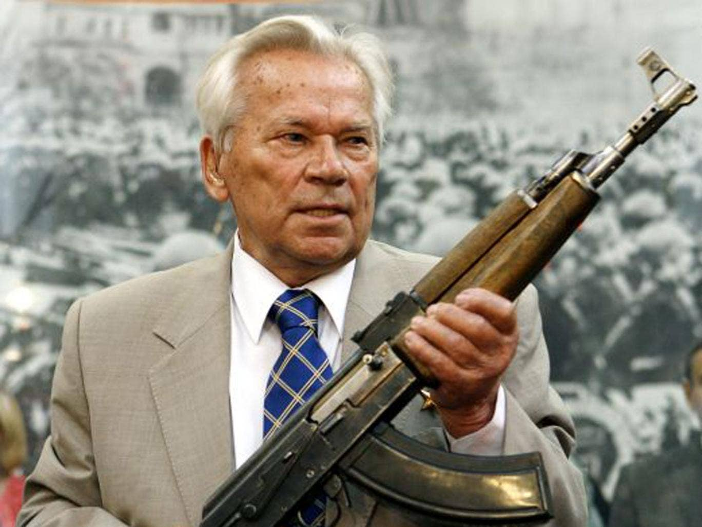 Kalashnikov with his creation, the most successful assault rifle ever made