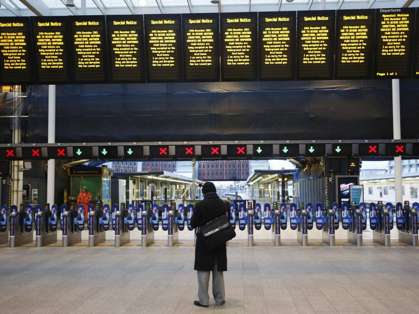 """Labour have accused the Conservative transport minister of """"hypocrisy"""" over a shortage of trains on Boxing Day"""