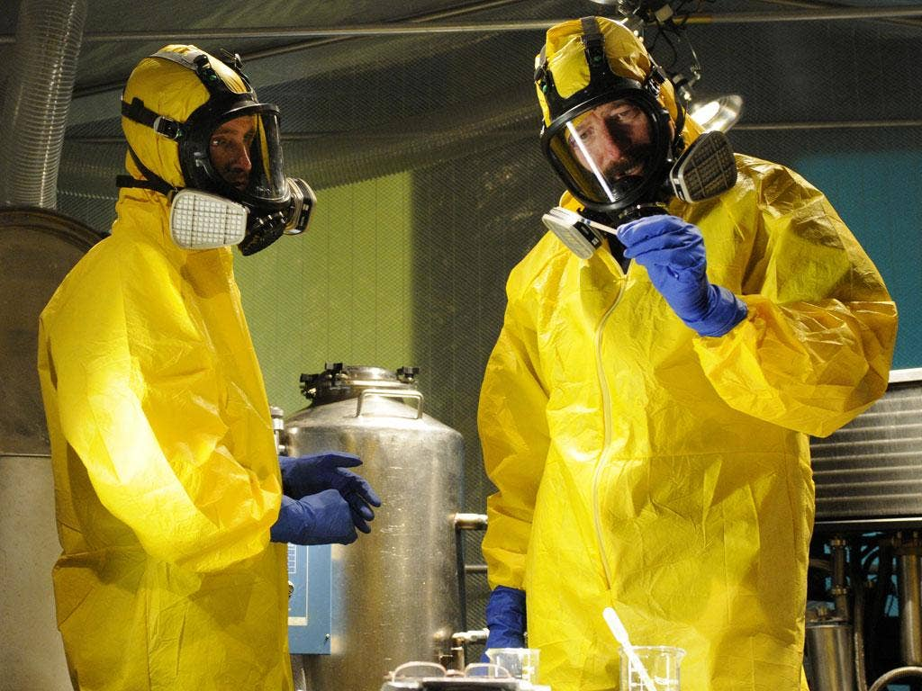 Aaron Paul and Bryan Cranston in the fifth series of Breaking Bad