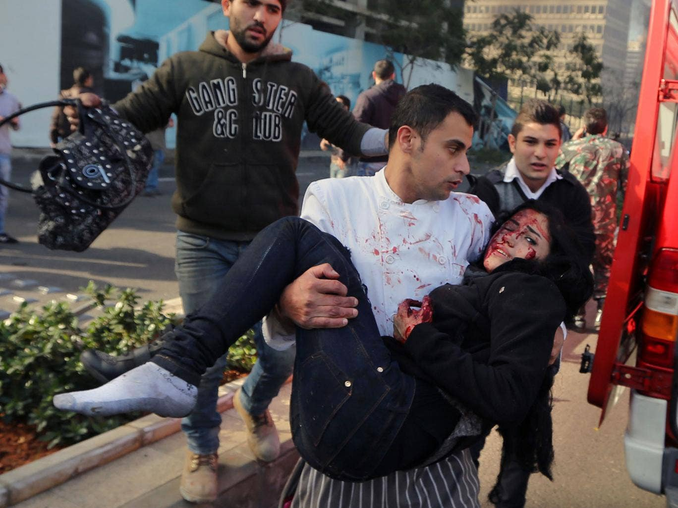 This Lebanese woman was among those injured in the explosion which claimed the life of Mohamad Chatah in Beirut