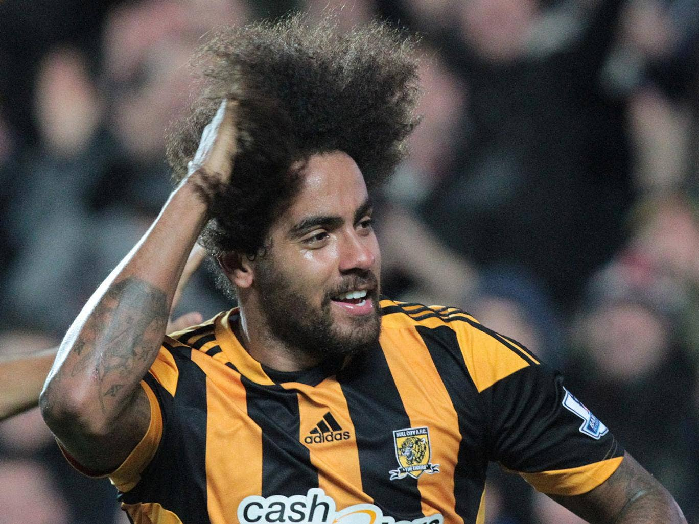 Tom Huddlestone said he would not cut his hair until he scored for Hull