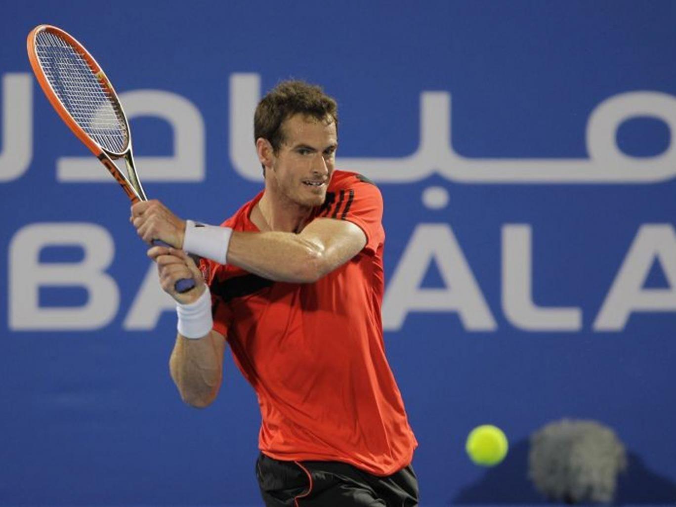That's Andy: Murray has faced Jo-Wilfried Tsonga and Stanislas Wawrinka ahead of the Qatar Open