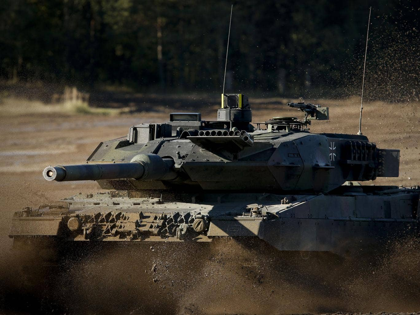 A Leopard 2 tank. A Greek defence official is said to have been bribed to order 170 of them