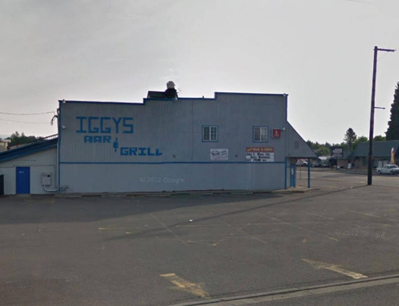 The alleged incident happened at Iggy's Bar and Grill, Oregon