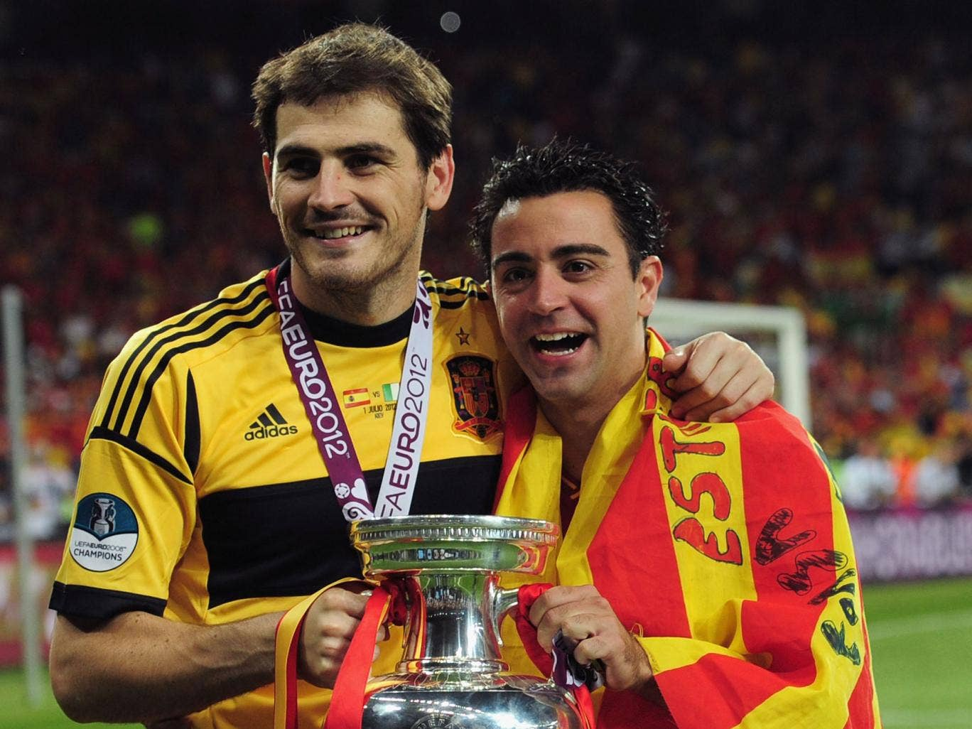 Xavi and Iker Casillas formed a bond playing together at the Under-20 World Cup in Nigeria