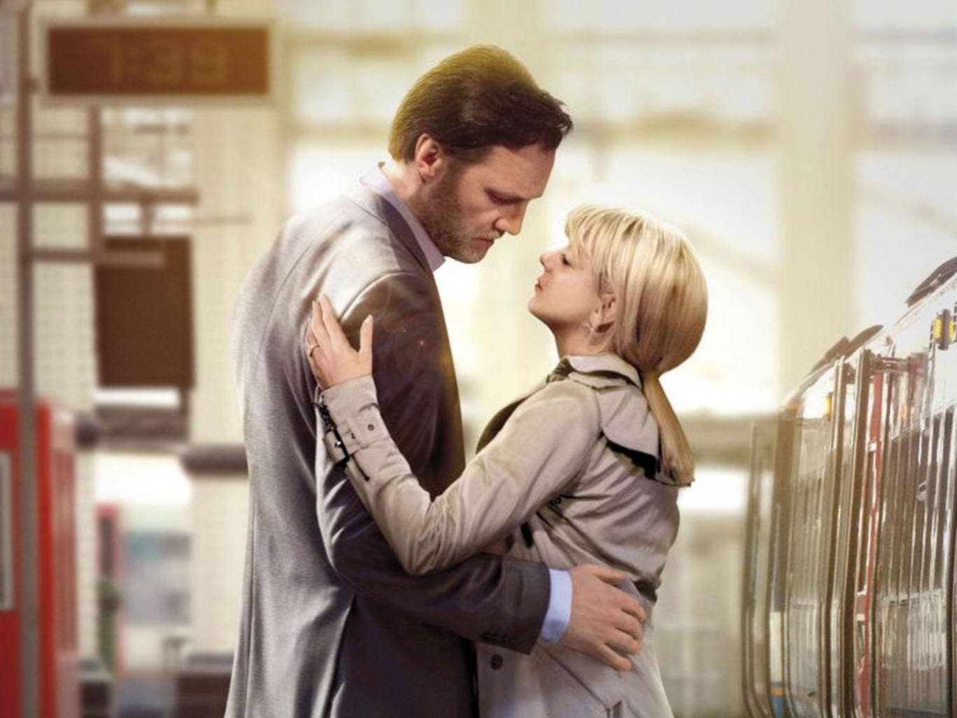 Wrong signals: David Morrissey and Sheridan Smith in BBC1's 'The 7.39'