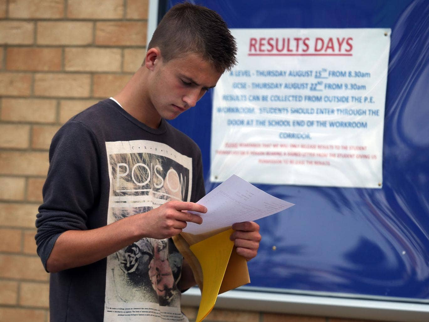 "Teenagers who fail to get five top-grade GCSE passes are more likely to feel ""ashamed"" and believe they have no talent"