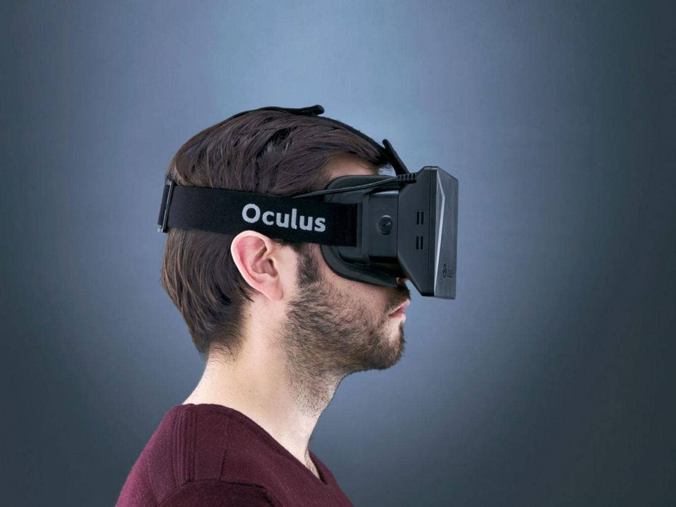 Goggle box: the blocky looks of the Oculus Rift belie the breath-taking experience of what the wearer sees