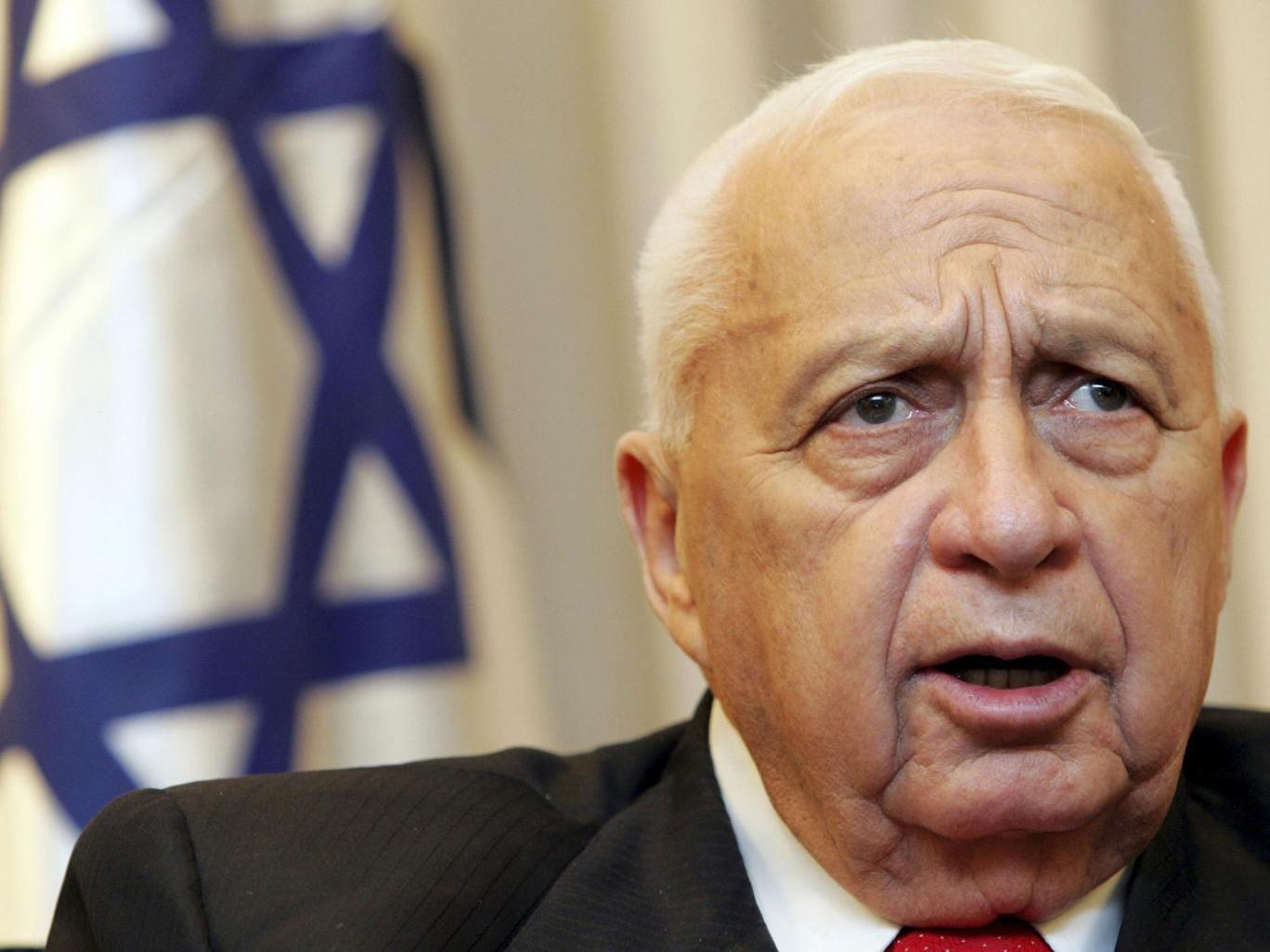 Former Israeli prime minister Ariel Sharon pictured in 2005