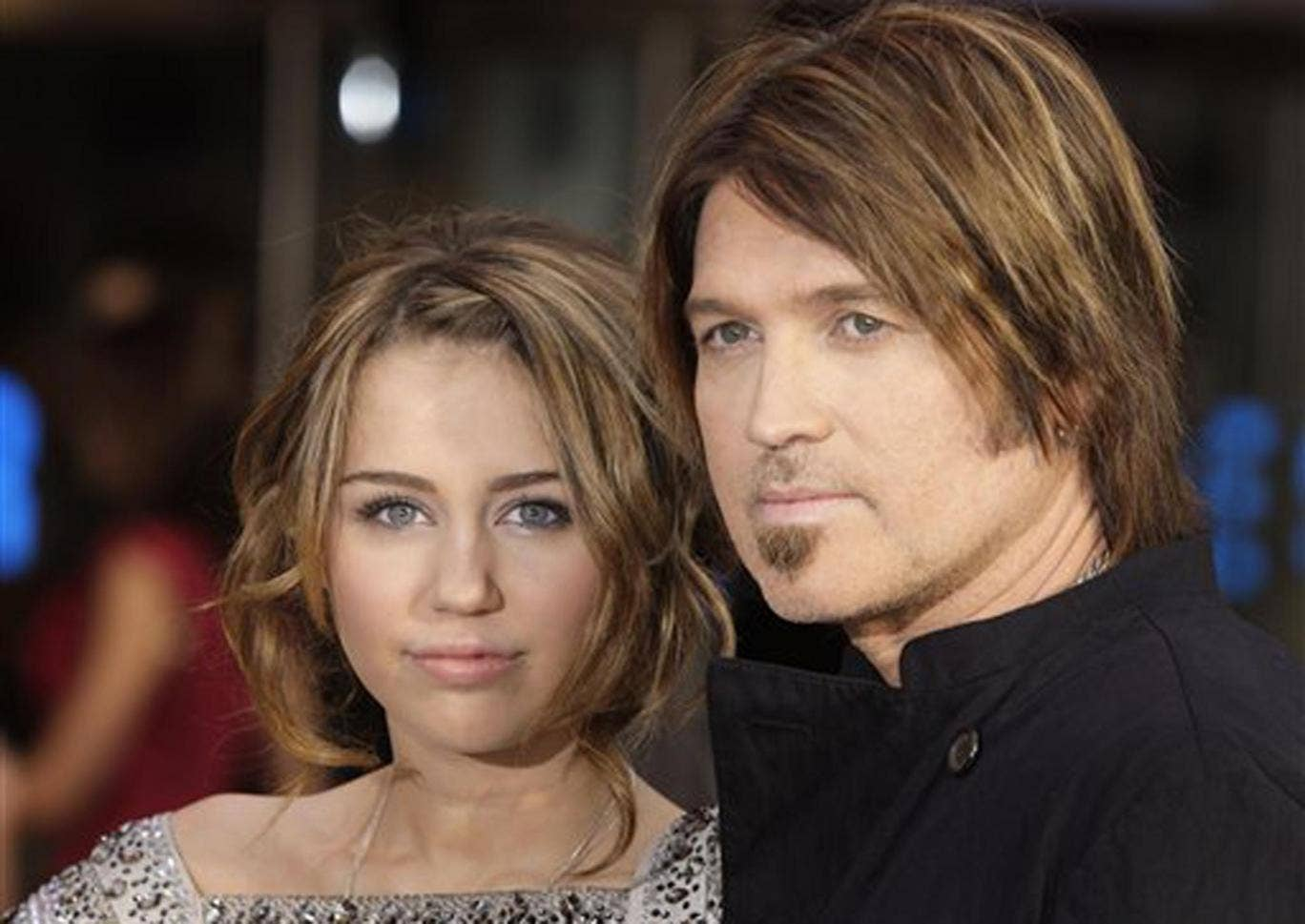 Miley Cyrus with her father, country musician Billy Ray Cyrus