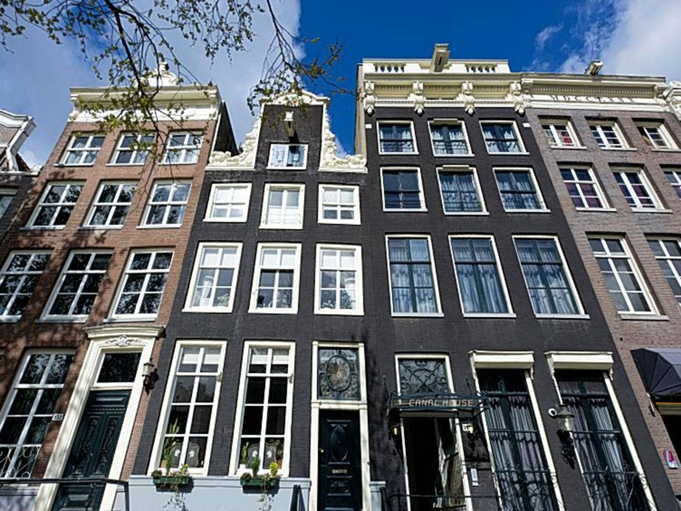 Tall order: impressive canal-side buildings in Amsterdam