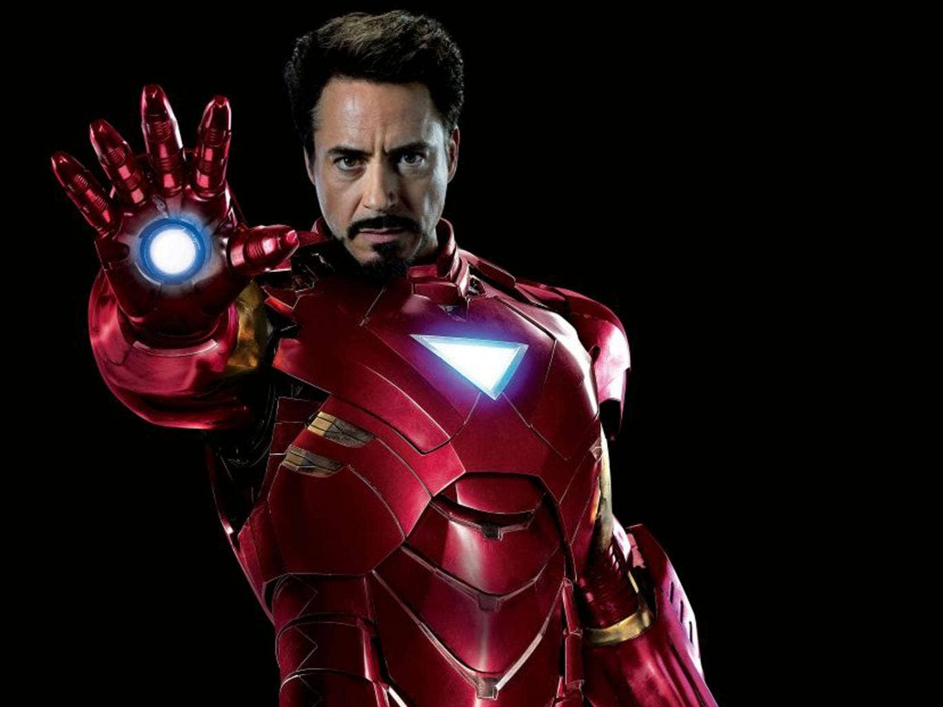 Robert Downey Jr as Marvel Comics' superhero Iron Man