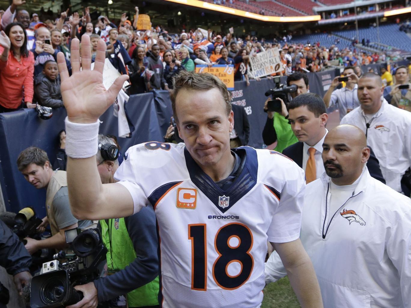 Peyton Manning broke Tom Brady's record for touchdown passes in a season