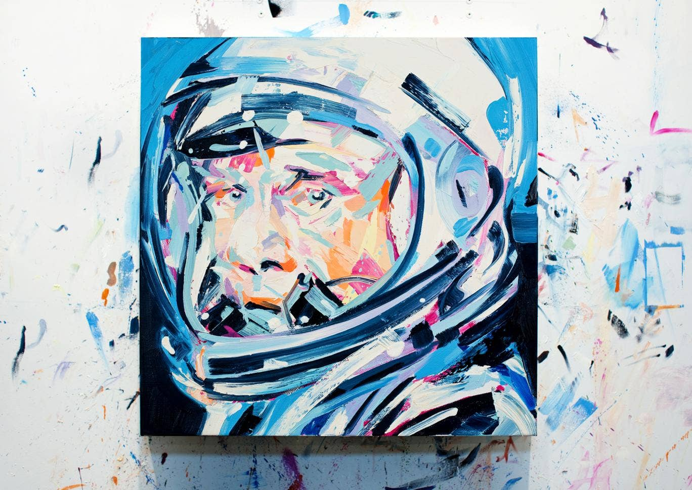 Michael Kagan's oil painting 'Pilot 2' for White Lies' album cover