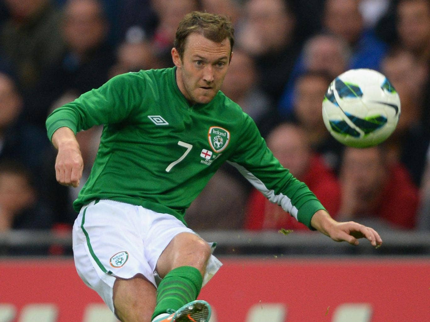 Aiden McGeady in action for Republic of Ireland