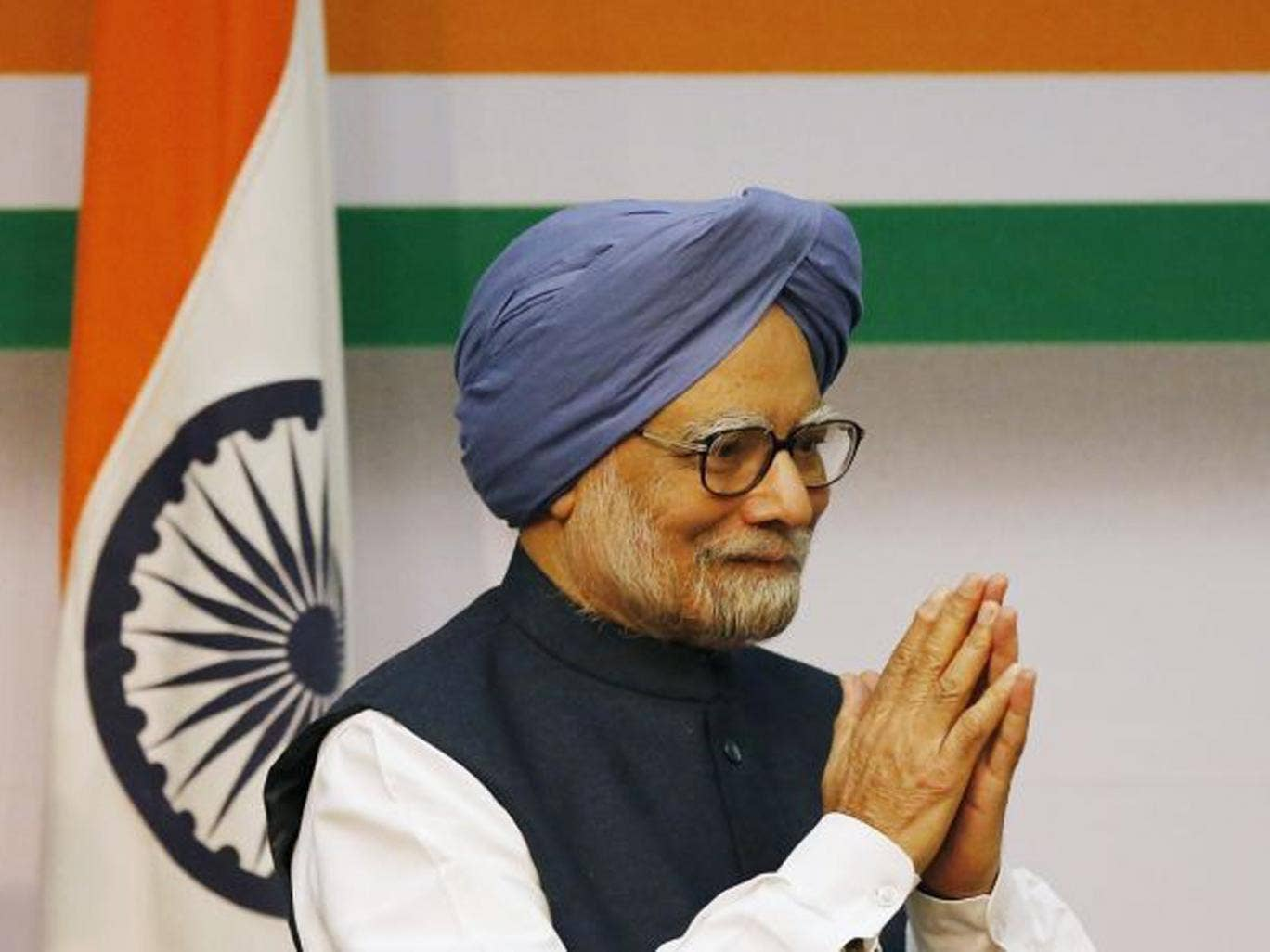 The Indian Prime Minster Manmohan Singh says he will step aside after 10 years in office