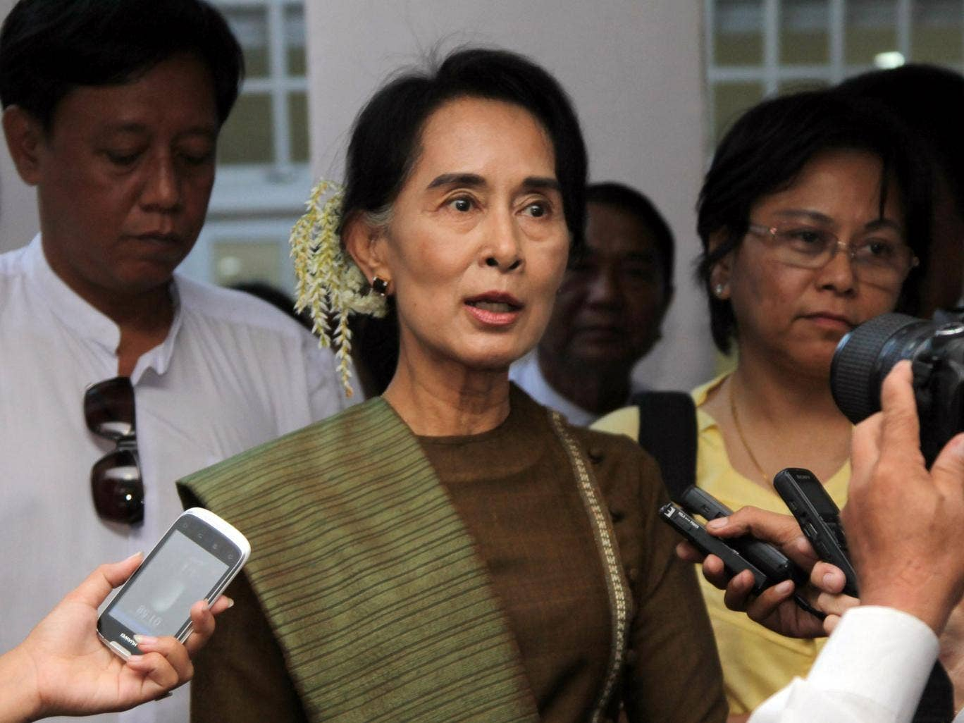 Aung San Suu Kyi is agitating for constitutional change