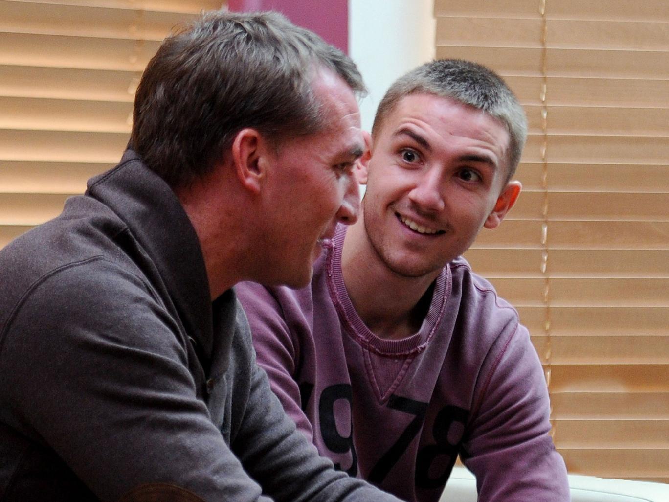 Brendan Rodgers with son Anton