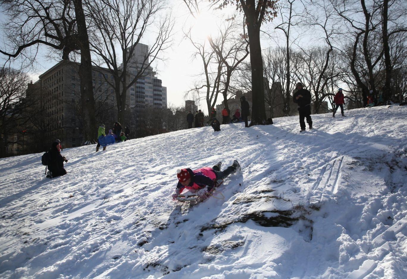 Uphill battle: New York's snowstorm is the first test of Bill de Blasio's term as Mayor