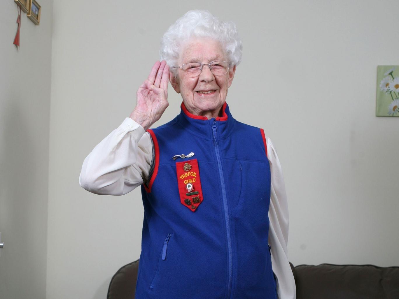 Margaret Rigby, girl guide