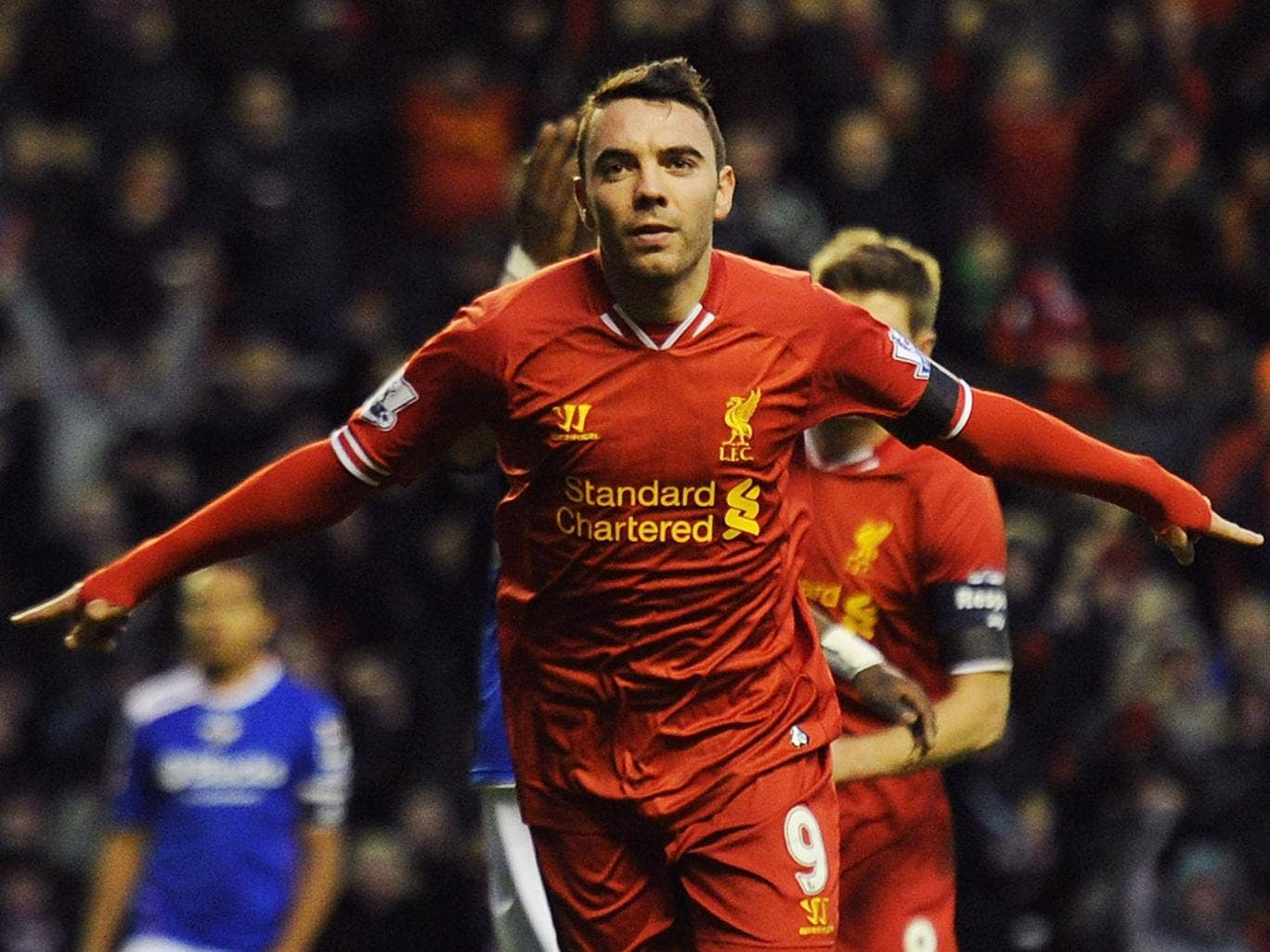 Iago Aspas scored the opening goal in Liverpool's 2-0 FA Cup win over Oldham Athletic