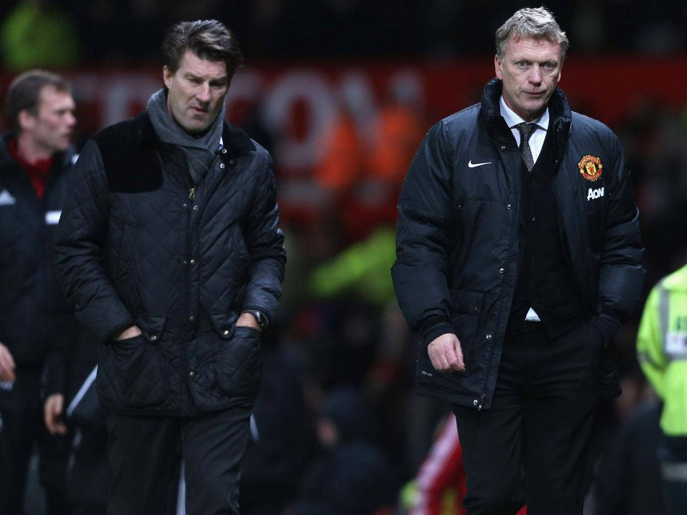 Michael Laudrup and David Moyes had mixed emotions after Swansea knocked Manchester United out of the FA Cup via a 2-1 victory