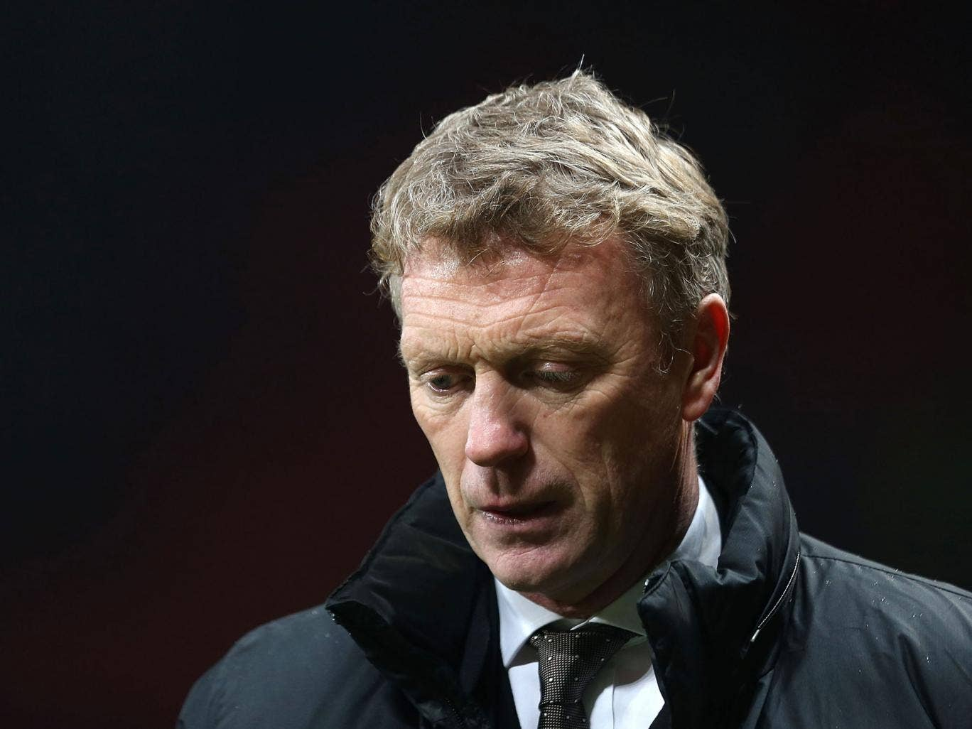 David Moyes appears dejected with he defeat to Swansea in the FA Cup third round