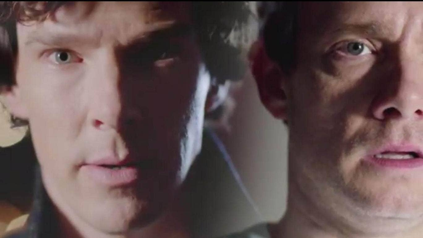 Sherlock and Holmes in the 'Sherlock' series 3 finale 'His Last Vow'