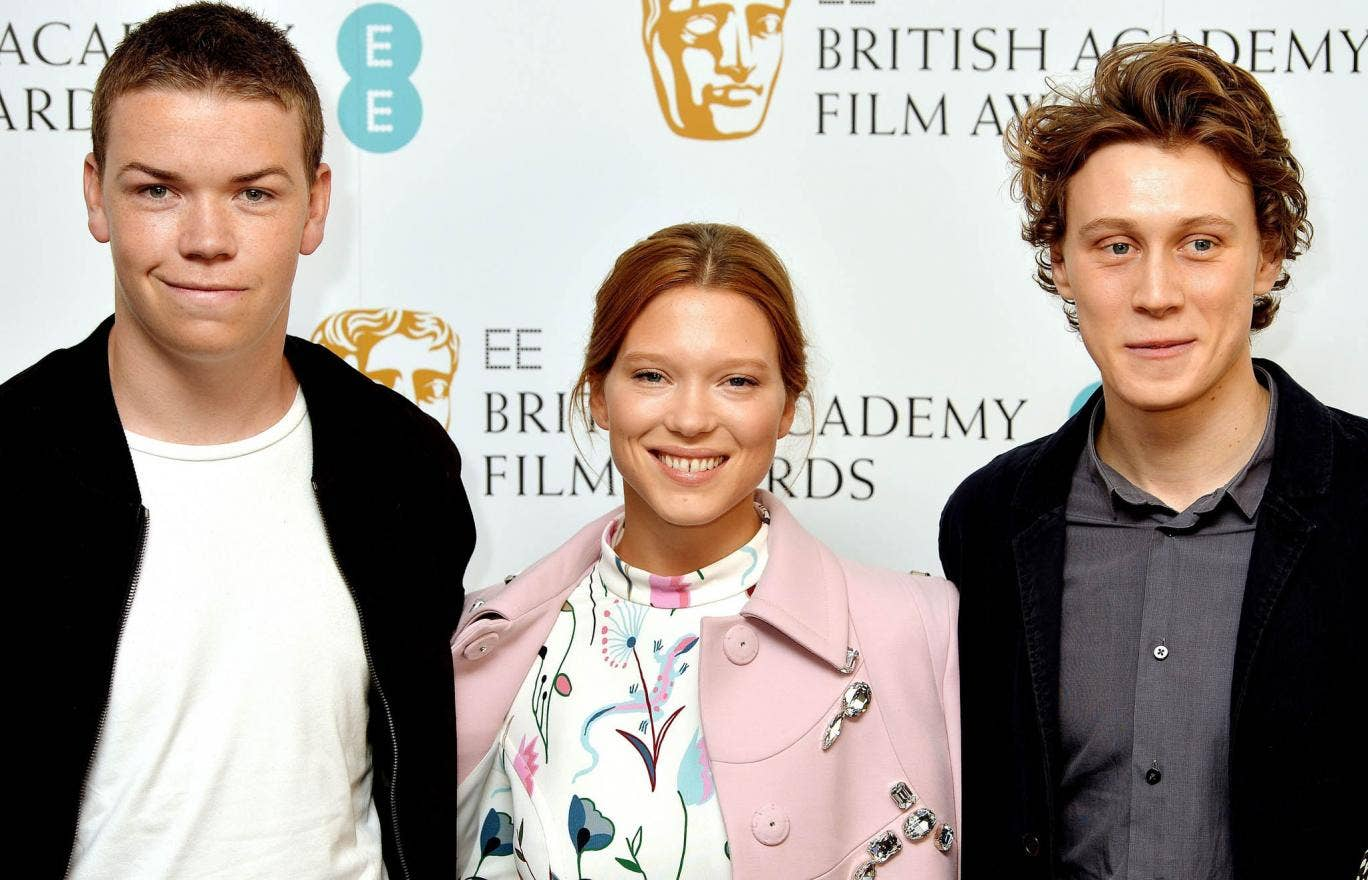 (Left to right) Will Poulter, Lea Seydoux and George MacKay at the Bafta press conference