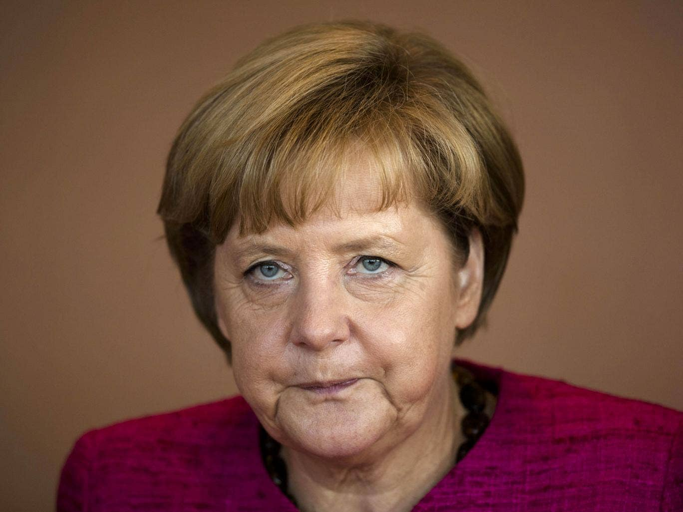 The German media suggested the Chancellor's ageing cross-country skis may have contributed to her accident